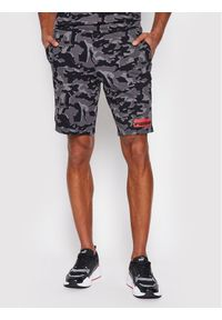 Puma Szorty sportowe Core Camo Aop 531501 Szary Regular Fit. Kolor: szary