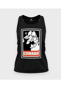 MegaKoszulki - Koszulka damska bez rękawów Tchórzliwy Pies. Materiał: bawełna. Długość rękawa: bez rękawów