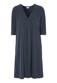 Cream Sukienka z modalu dżersejowego Modala granatowy female niebieski S (36). Typ kołnierza: dekolt w serek. Kolor: niebieski. Materiał: jersey