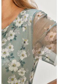 Turkusowa sukienka Vila casualowa, rozkloszowana, na co dzień, midi #5