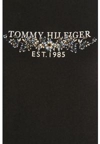 Niebieska bluzka TOMMY HILFIGER z nadrukiem, na co dzień