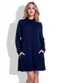 Niebieska sukienka Fobya oversize