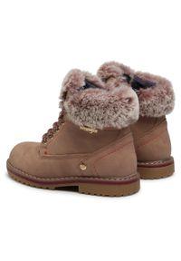 Wrangler - Trapery WRANGLER - Creek Fur Girl WG0211BA Winter Rose 525. Kolor: różowy. Materiał: skóra ekologiczna, materiał. Szerokość cholewki: normalna