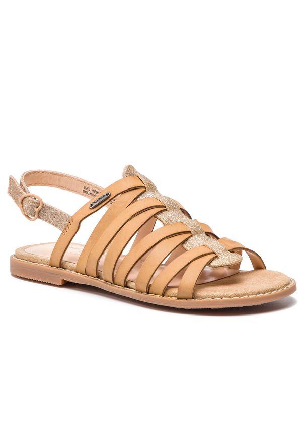 Brązowe sandały Pepe Jeans