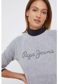 Pepe Jeans - Bluza Nana. Okazja: na co dzień. Kolor: szary. Długość rękawa: długi rękaw. Długość: długie. Styl: casual