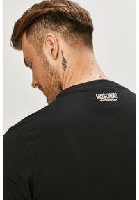 Czarny t-shirt Moschino Underwear na co dzień, casualowy