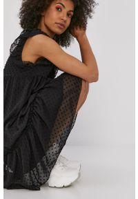 Czarna sukienka Haily's casualowa, z aplikacjami, prosta