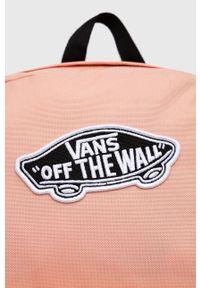 Vans - Plecak. Kolor: różowy. Wzór: aplikacja