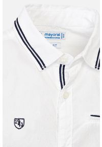 Biała koszula Mayoral krótka, z klasycznym kołnierzykiem