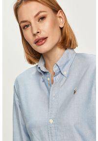 Niebieska koszula Polo Ralph Lauren polo, klasyczna, długa