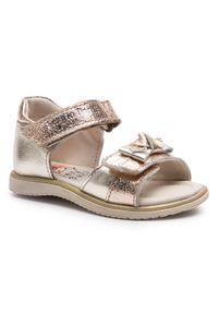 Złote sandały Sergio Bardi Kids casualowe, na co dzień, z aplikacjami