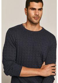 Niebieski sweter medicine na co dzień, casualowy