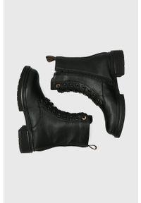 MEXX - Mexx - Botki Holea. Nosek buta: okrągły. Kolor: czarny. Materiał: guma