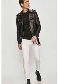Calvin Klein Jeans - Spodnie. Kolor: biały