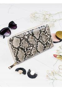 MILANO DESIGN - Pojemny portfel damski srebrny Milano Design. Kolor: srebrny. Materiał: skóra ekologiczna