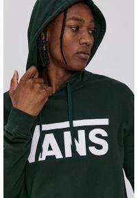 Vans - Bluza bawełniana. Kolor: zielony. Materiał: bawełna. Wzór: nadruk