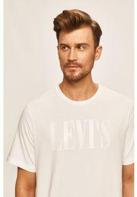Biały t-shirt Levi's® biznesowy, na spotkanie biznesowe, z nadrukiem