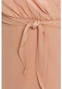 Różowa sukienka Vila prosta, mini, na co dzień