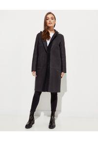 ALMAROSAFUR - Dwustronny płaszcz Alice. Kolor: czarny