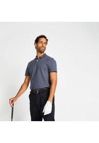 INESIS - Koszulka polo do golfa MW100 męska. Typ kołnierza: golf, polo. Materiał: bawełna, materiał