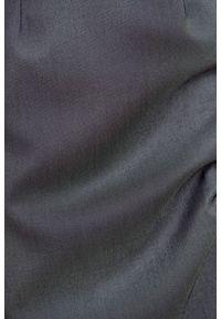 Marie Zélie - Sukienka Milena wełna szary melanż z jedwabiem. Kolor: szary. Materiał: jedwab, wełna. Wzór: melanż. Typ sukienki: proste