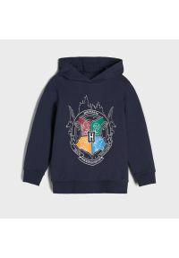 Sinsay - Bluza z kapturem Harry Potter - Granatowy. Typ kołnierza: kaptur. Kolor: niebieski
