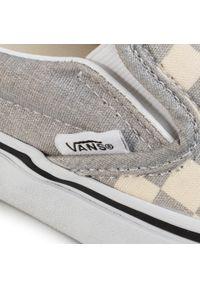 Szare buty sportowe Vans Vans Classic, z cholewką