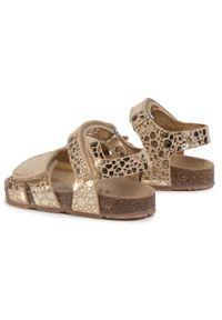 Złote sandały Sergio Bardi Young