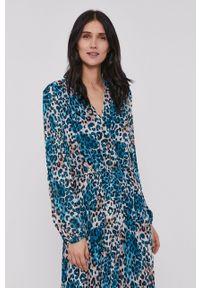 DKNY - Dkny - Sukienka. Materiał: tkanina. Długość rękawa: długi rękaw. Typ sukienki: plisowane, rozkloszowane