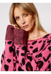 Różowy sweter klasyczny One Teaspoon