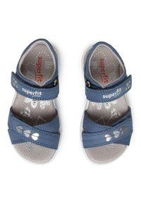 Niebieskie sandały Superfit na co dzień, casualowe