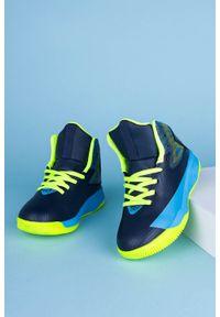 Casu - Granatowe buty sportowe sznurowane casu 201a/by. Kolor: niebieski