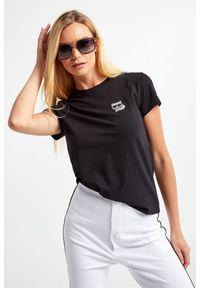 Karl Lagerfeld - T-SHIRT KARL LAGERFELD. Materiał: tkanina. Styl: klasyczny