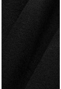 IVY & OAK - Płaszcz Carrieann Rose. Okazja: na co dzień. Kolor: czarny. Materiał: materiał, wełna. Styl: casual
