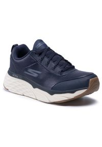 skechers - Buty SKECHERS - Max Cushioning Elite 54431/NVY Navy. Kolor: niebieski. Materiał: skóra. Szerokość cholewki: normalna. Model: Skechers Sport. Sport: fitness