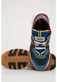Wielokolorowe sneakersy Tommy Jeans na sznurówki, z cholewką