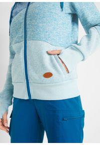 Bluza rozpinana z polaru z poliestru z recyklingu, długi rękaw bonprix niebieski oceaniczny. Kolor: niebieski. Materiał: polar, poliester. Długość rękawa: długi rękaw. Długość: długie