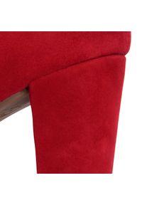 Czerwone półbuty Gabor na średnim obcasie, z cholewką, na obcasie #7