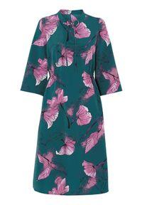 Sukienka Cellbes w kwiaty, ze stójką