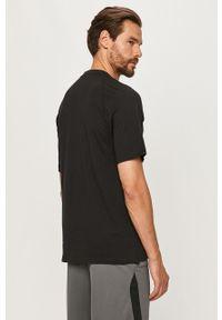 Czarny t-shirt adidas Performance casualowy, na co dzień