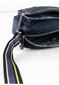 Niebieska torebka bonprix w paski, na ramię