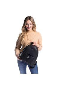 Czarny plecak Wittchen elegancki, w paski