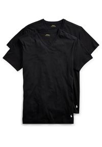 Ralph Lauren - RALPH LAUREN - T-Shirt 2-Pack. Okazja: na co dzień. Typ kołnierza: polo. Kolor: czarny. Materiał: bawełna, dresówka, prążkowany. Wzór: haft. Styl: klasyczny, casual