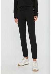 Czarne spodnie dresowe Love Moschino z nadrukiem