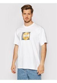 HUF T-Shirt Mix Box Logo TS01343 Biały Regular Fit. Kolor: biały