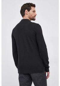 United Colors of Benetton - Longsleeve bawełniany. Okazja: na co dzień. Kolor: czarny. Materiał: bawełna. Długość rękawa: długi rękaw. Wzór: aplikacja. Styl: casual