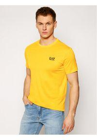 EA7 Emporio Armani T-Shirt 8NPT51 PJM9Z 1604 Żółty Regular Fit. Kolor: żółty