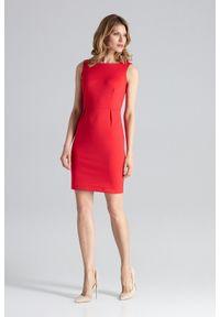 Czerwona sukienka na imprezę Figl mini, klasyczna