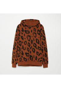 Fioletowa bluza Cropp z motywem zwierzęcym