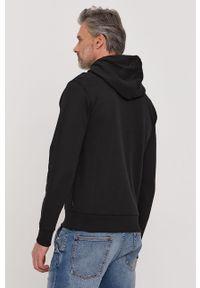 Czarna bluza nierozpinana Calvin Klein z kapturem, z nadrukiem